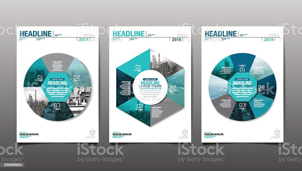 annual report 2017,2018,2019,future, business. vector art illustration