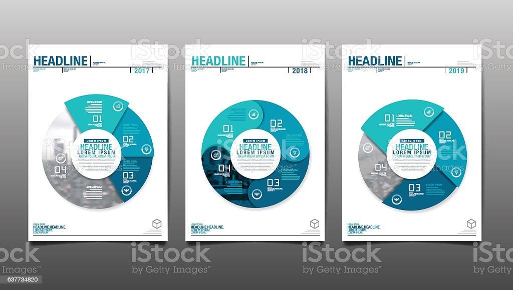 annual report 2017,2018,future, business vector art illustration