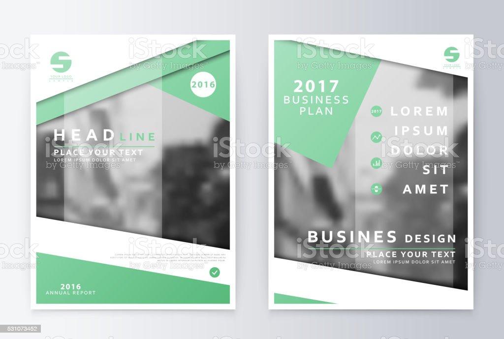 Annual report  brochure. Business plan flyer design template. vector art illustration
