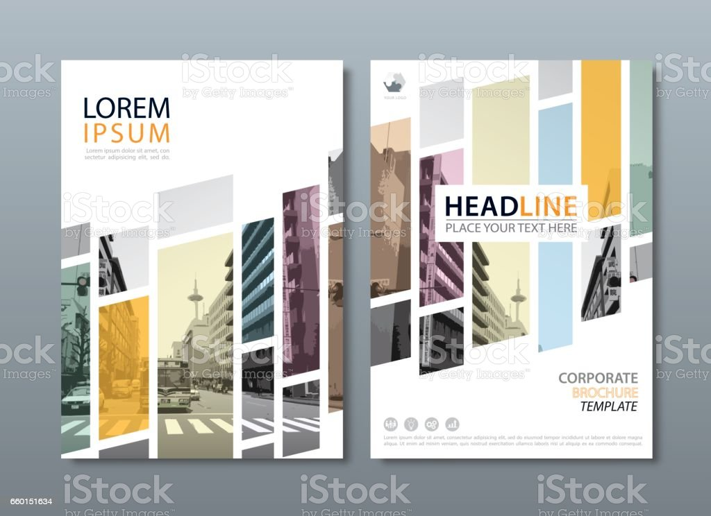 Annual report brochure flyer design template, Leaflet cover presentation, book cover, layout in A4 size royalty-free stock vector art