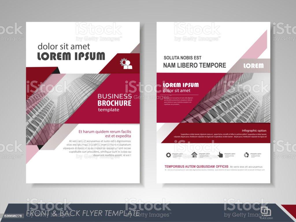 Annual report brochure vector art illustration