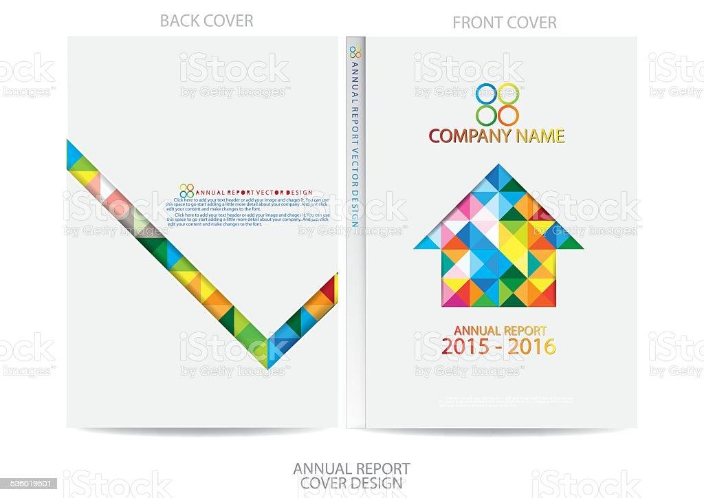 Annual Report Cover Design Stock Vector Art 536019501 Istock