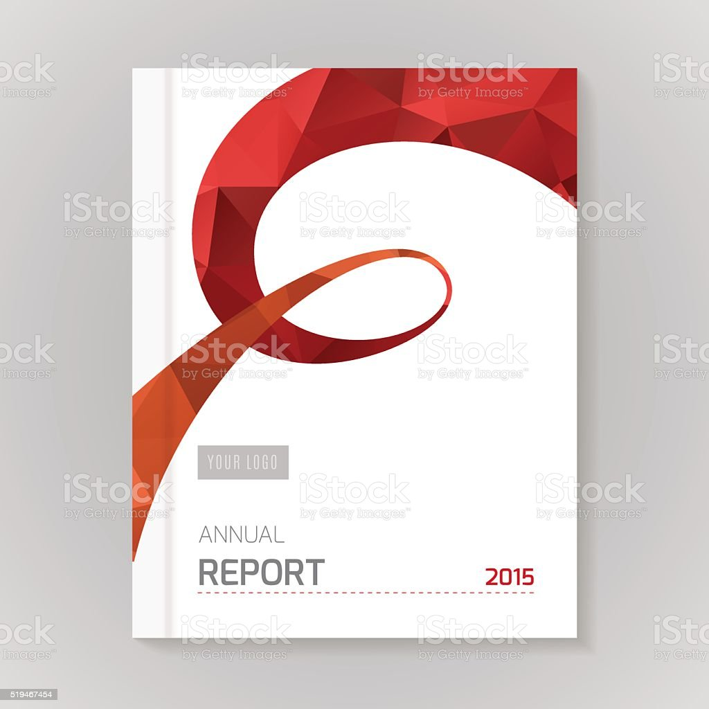 Annual Report Cover vector illustration vector art illustration