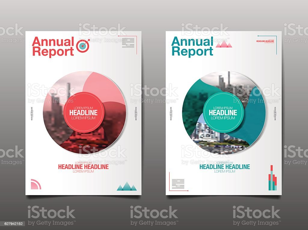 annual report ,future, business, Circle Background. vector art illustration