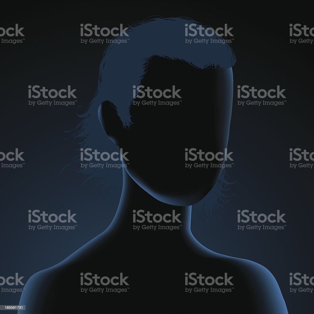 Anonymous silhouette royalty-free stock vector art
