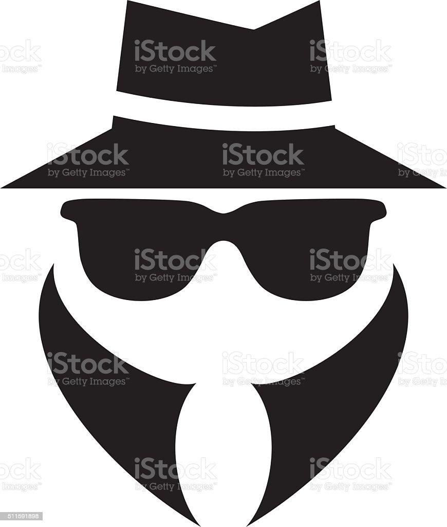 anonymous spy agent vector icon vector art illustration