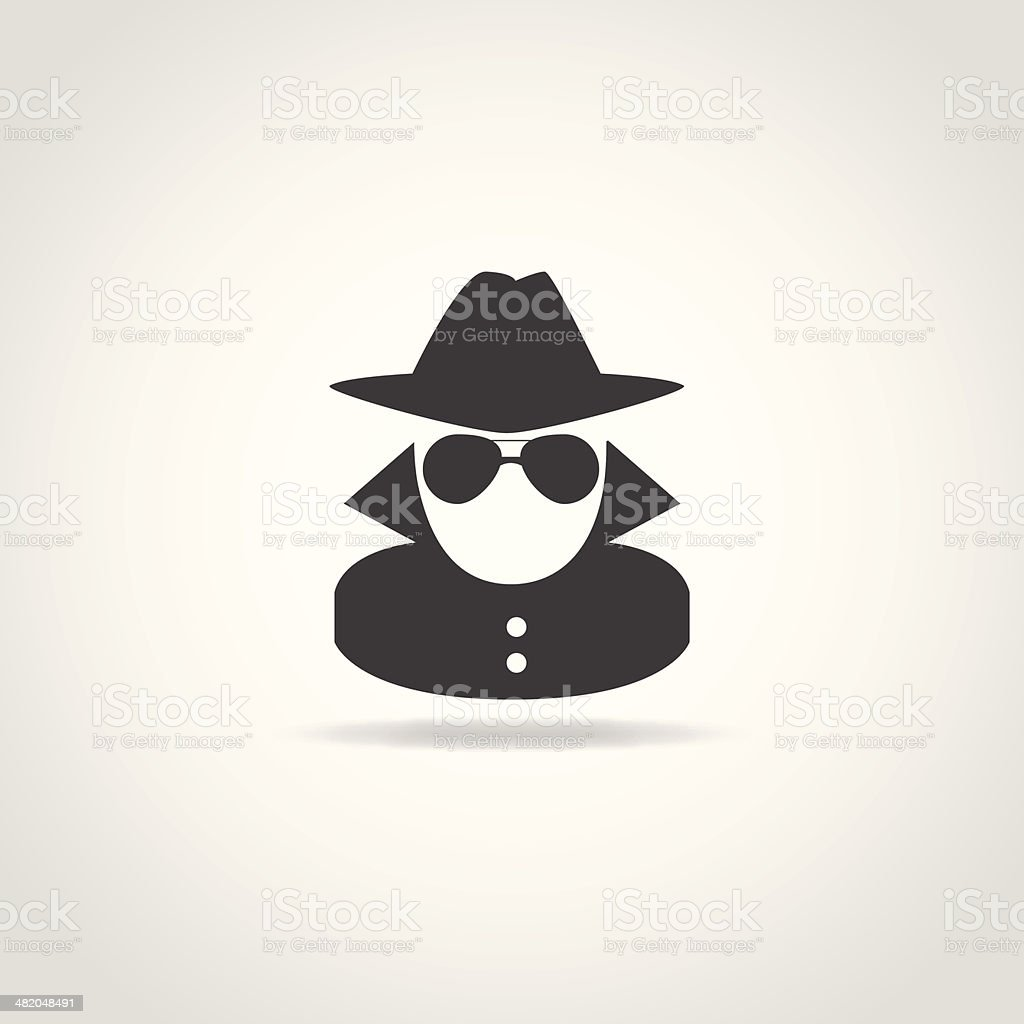 Anonymous Spy Icon vector art illustration