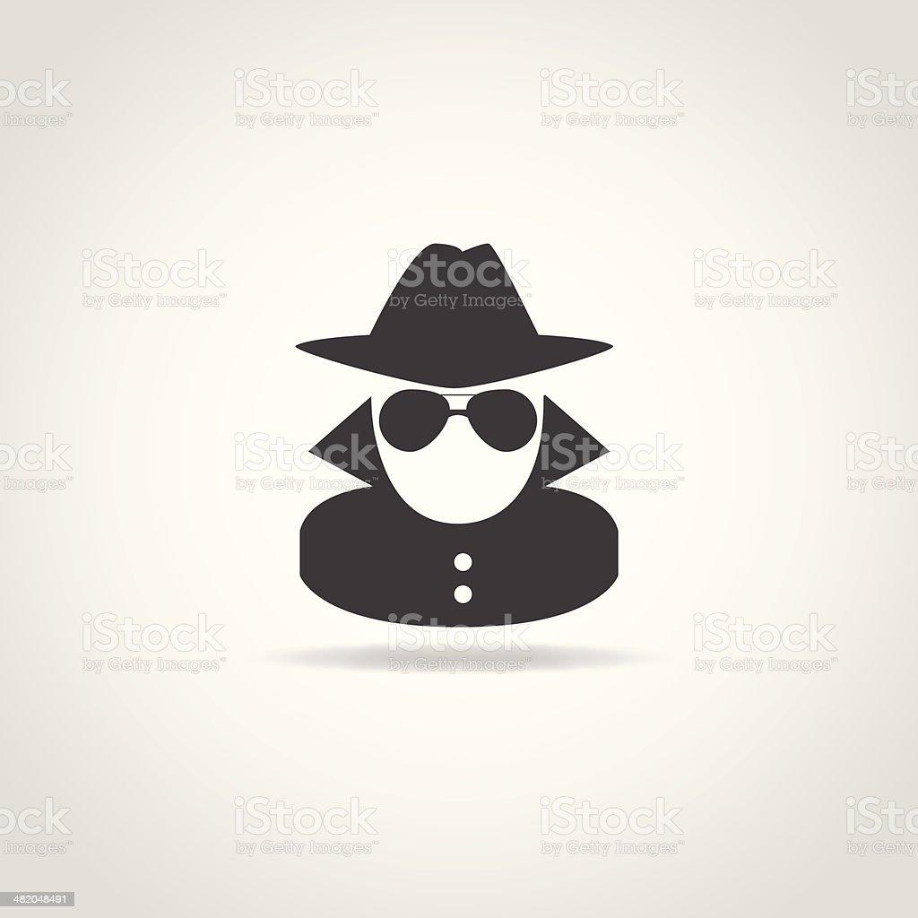 Anonymous Spy Icon vector art illustration