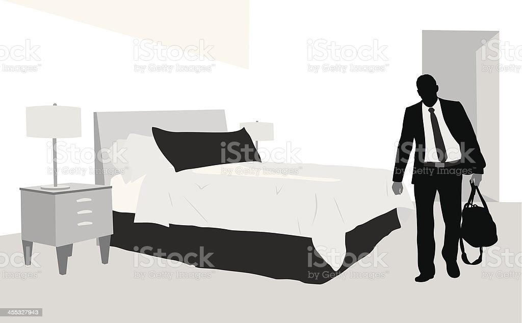 Another Hotel Vector Silhouette royalty-free stock vector art