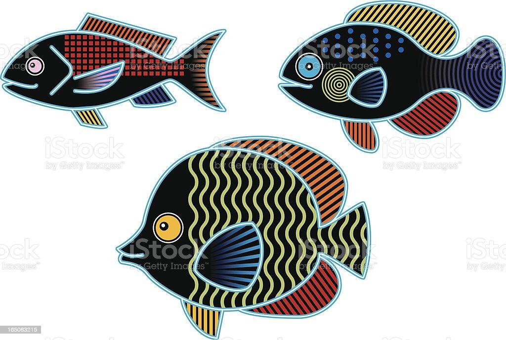 Another School of Fish vector art illustration