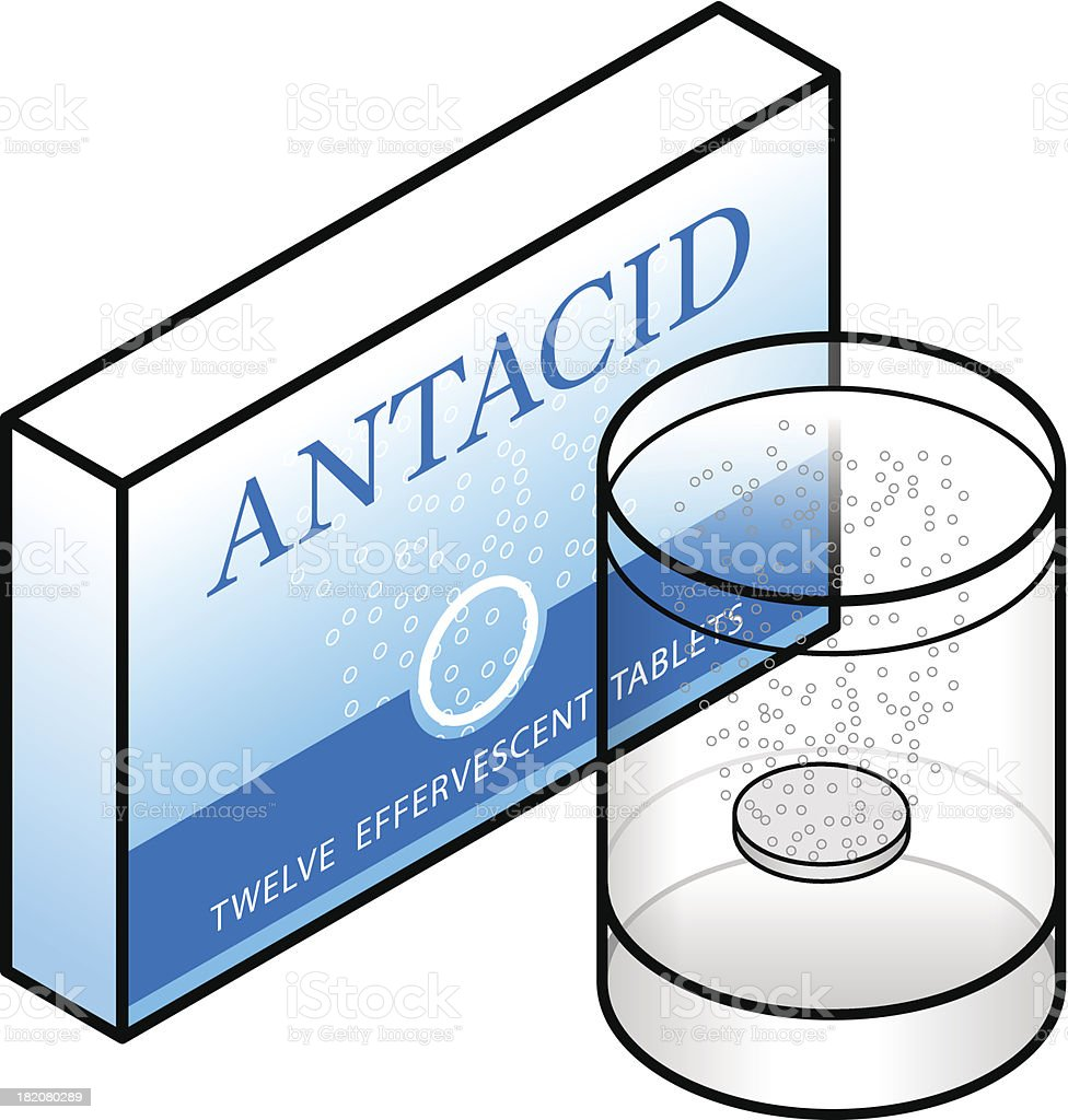 Antacid vector art illustration