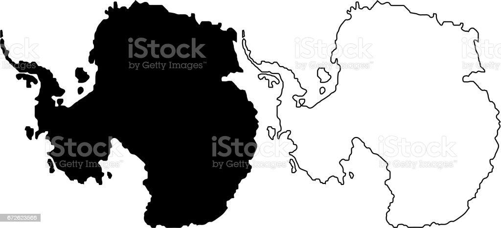 Antarctic map vector illustration, vector art illustration