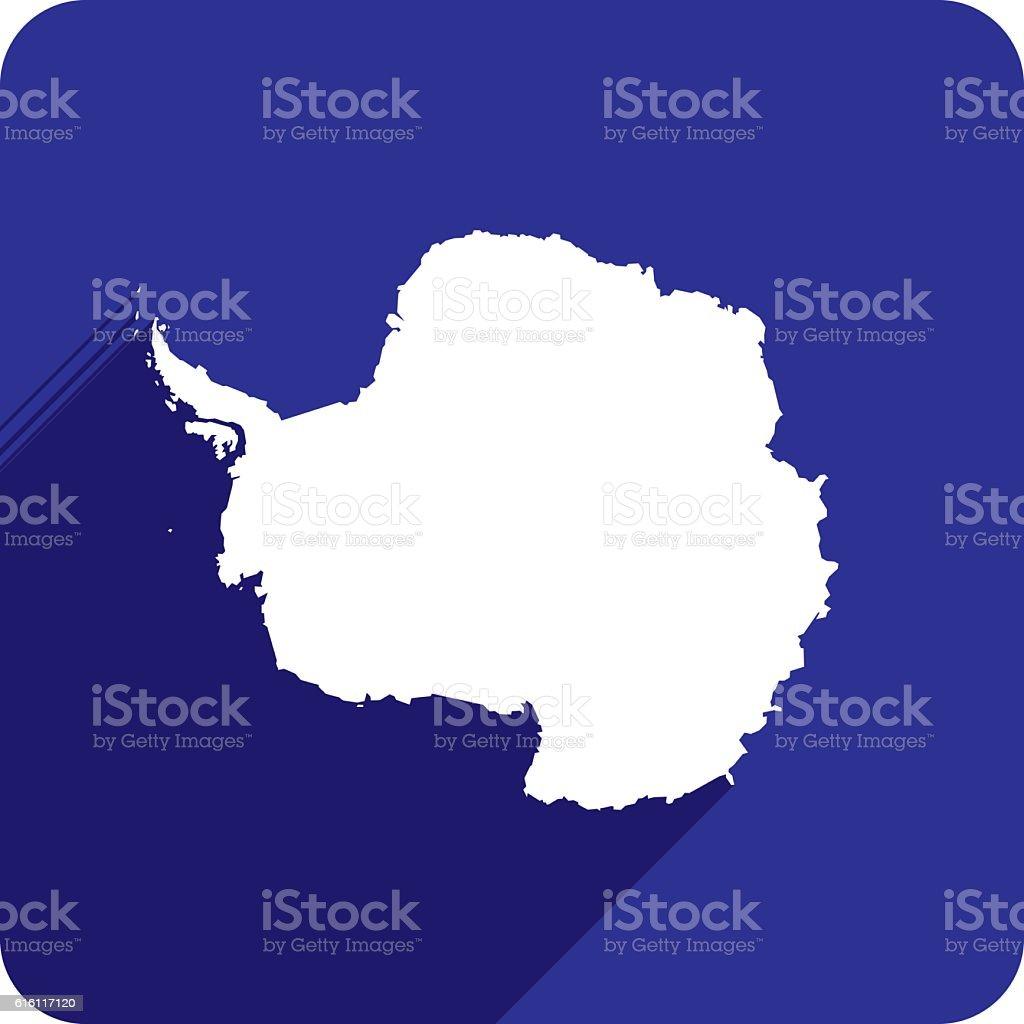 Antarctica Icon Silhouette vector art illustration