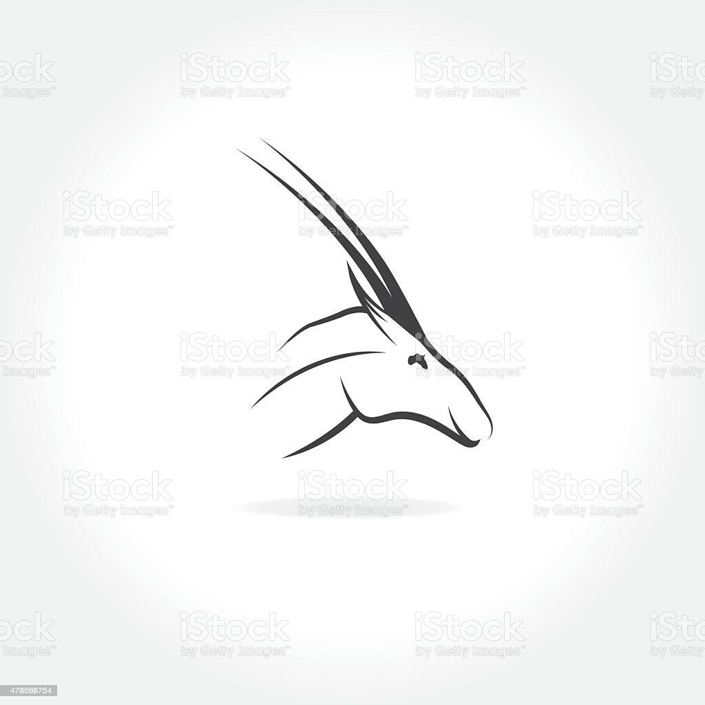 antelope head with eye in form of africa vector art illustration