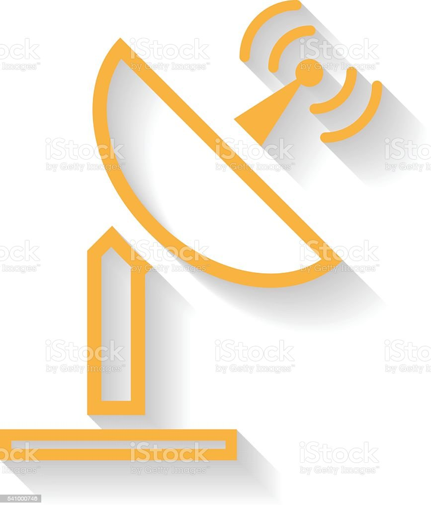 Antenna icon , Long Shadow vector art illustration