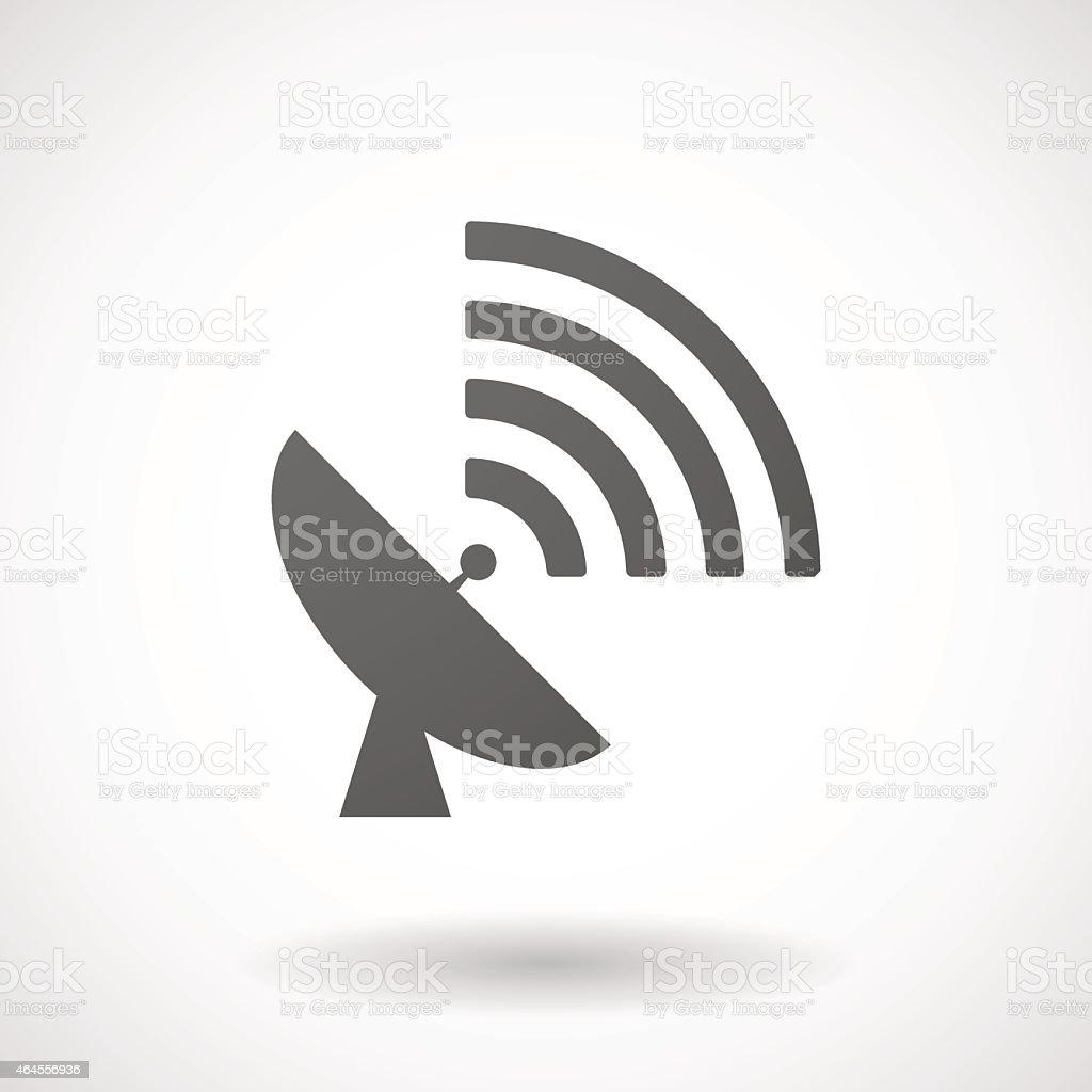 antenna  icon on white background vector art illustration