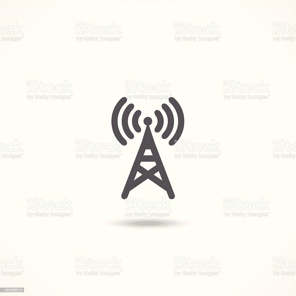 Antenna icon vector art illustration