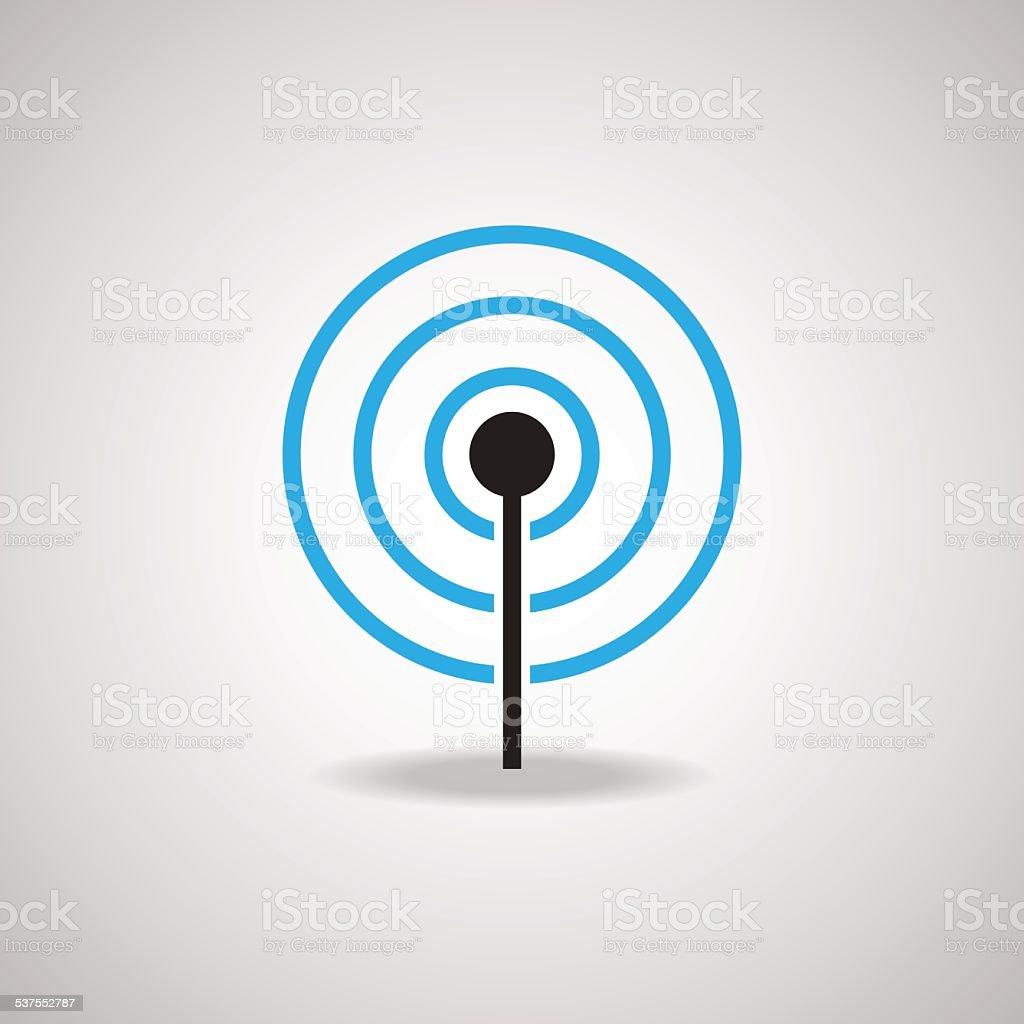 Antenna Satellite dish and technology icon vector art illustration