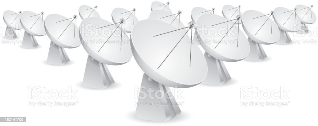 Antenna royalty-free stock vector art