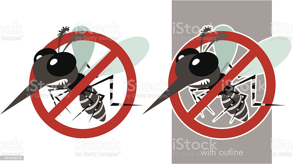 Anti Dengue royalty-free stock vector art
