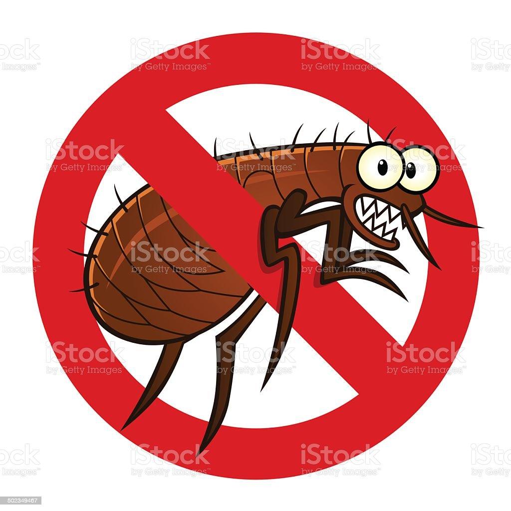 anti flea sign vector art illustration