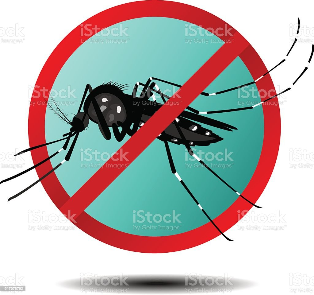 Anti mosquito sign ,flat icon, vector vector art illustration