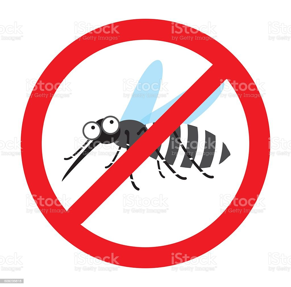 Anti mosquito sign, Mosquito repellent vector, mosquito warning sign vector art illustration