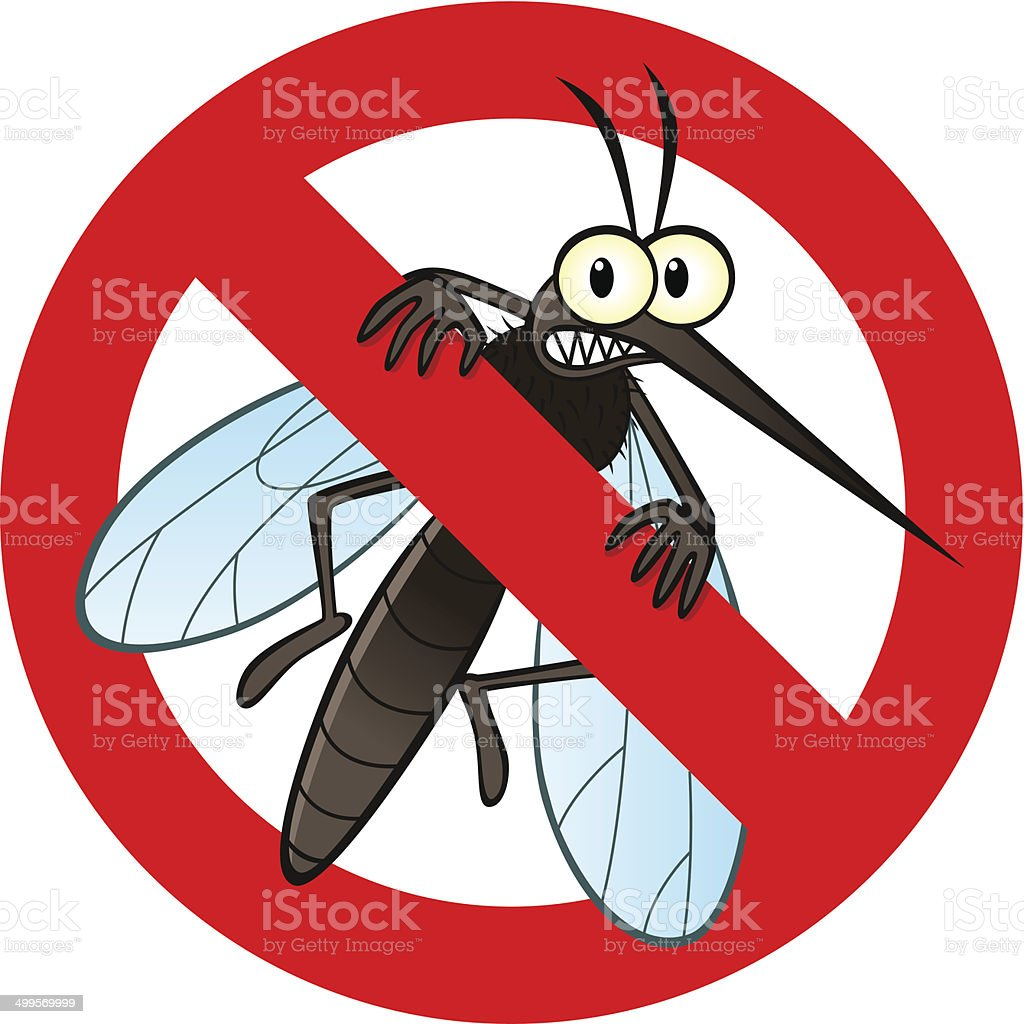 anti mosquito sign vector art illustration
