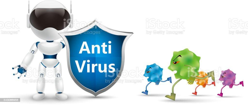 Anti virus vector art illustration