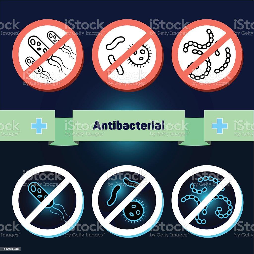 Antibacterial coating sterilization vector art illustration