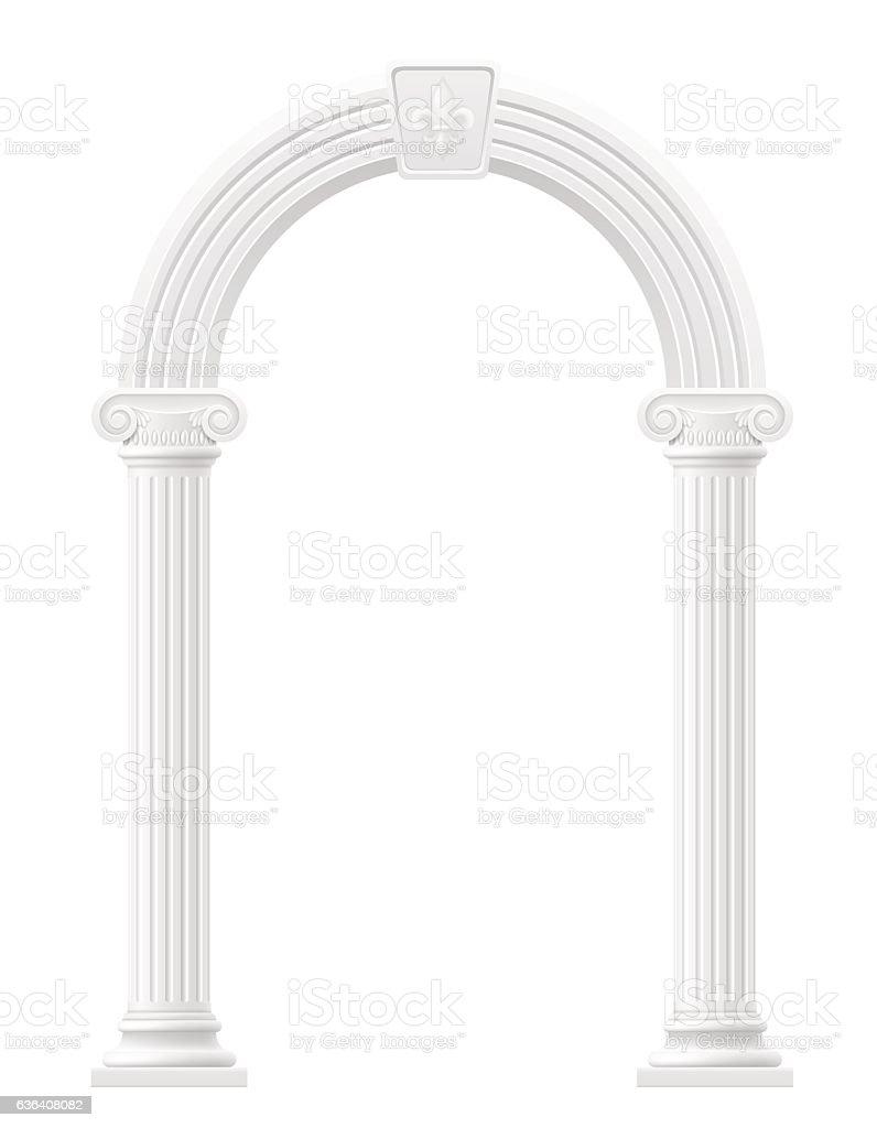 antique arch stock vector illustration vector art illustration