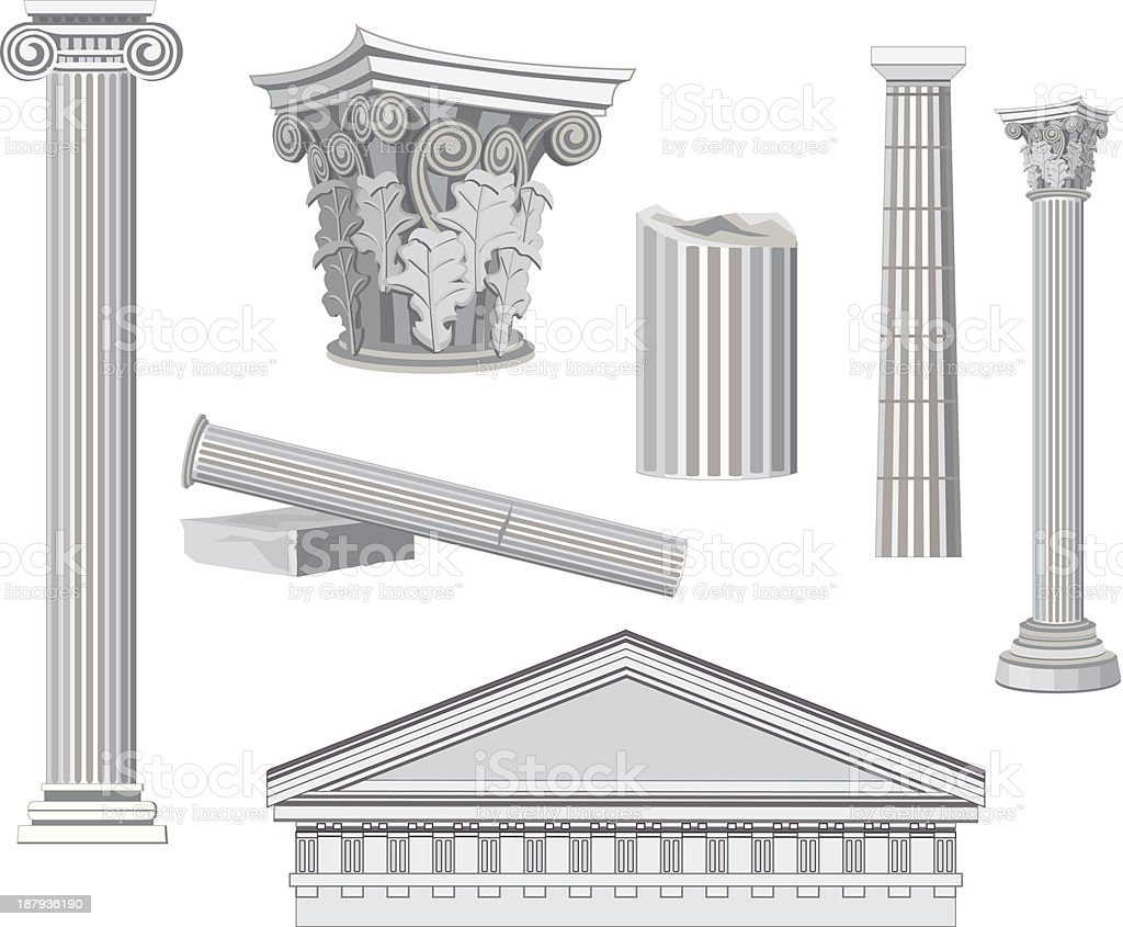 Antique Architectural Elements vector art illustration