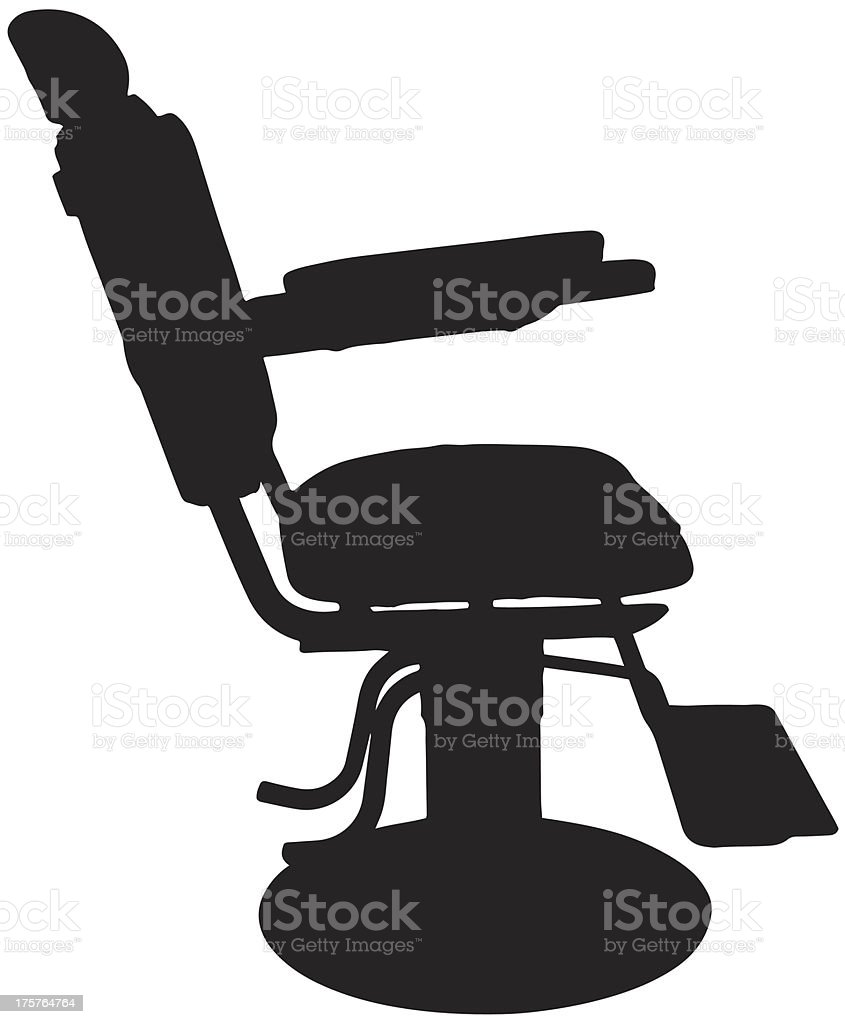 Antique chair silhouette - Antique Barber Chair Silhouette Royalty Free Stock Vector Art