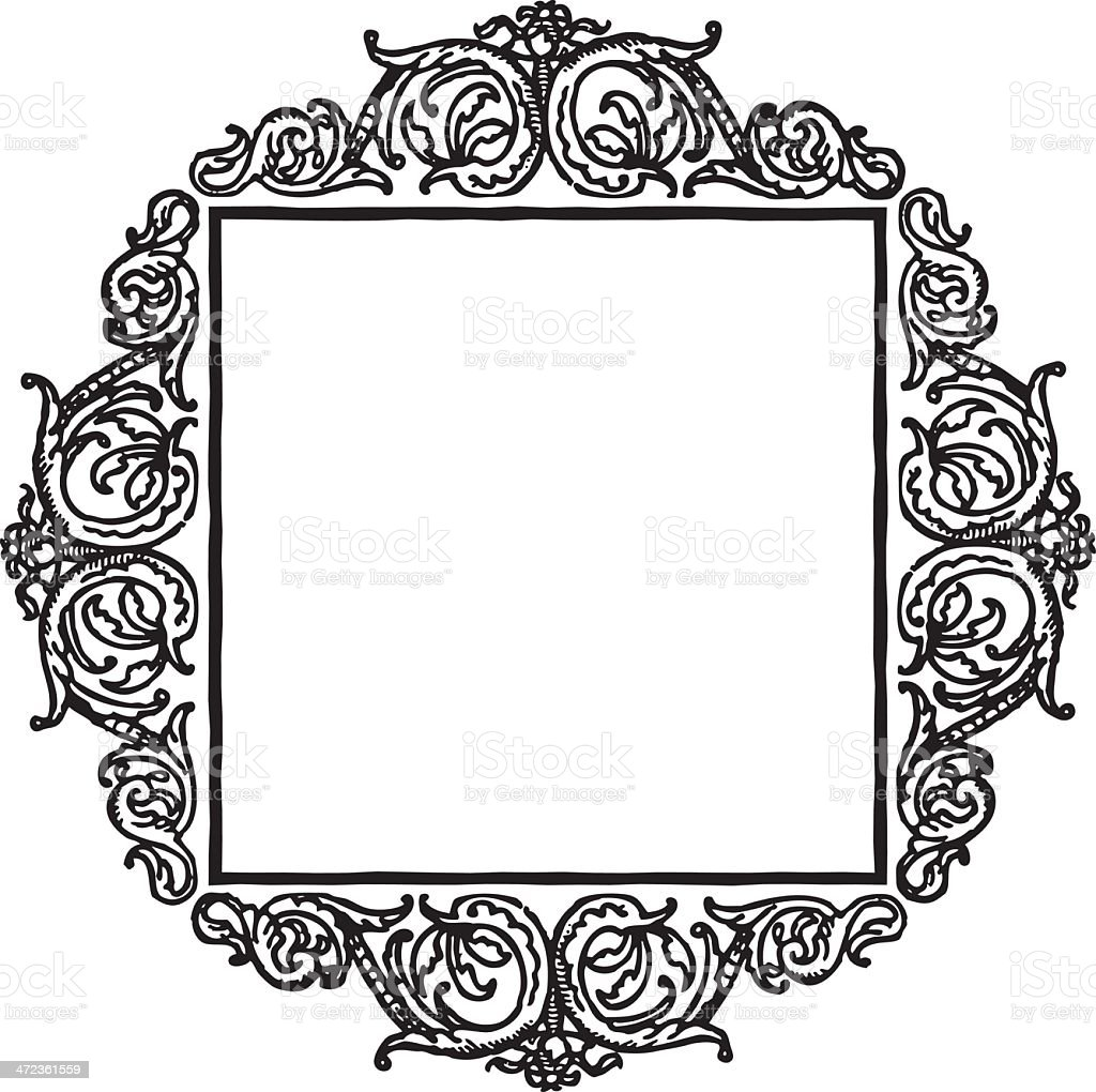 Antique Border royalty-free stock vector art