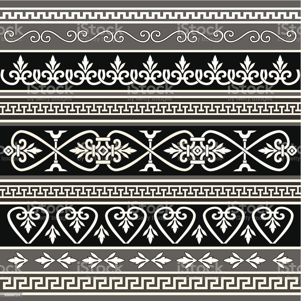 Antique borders for your design royalty-free stock vector art