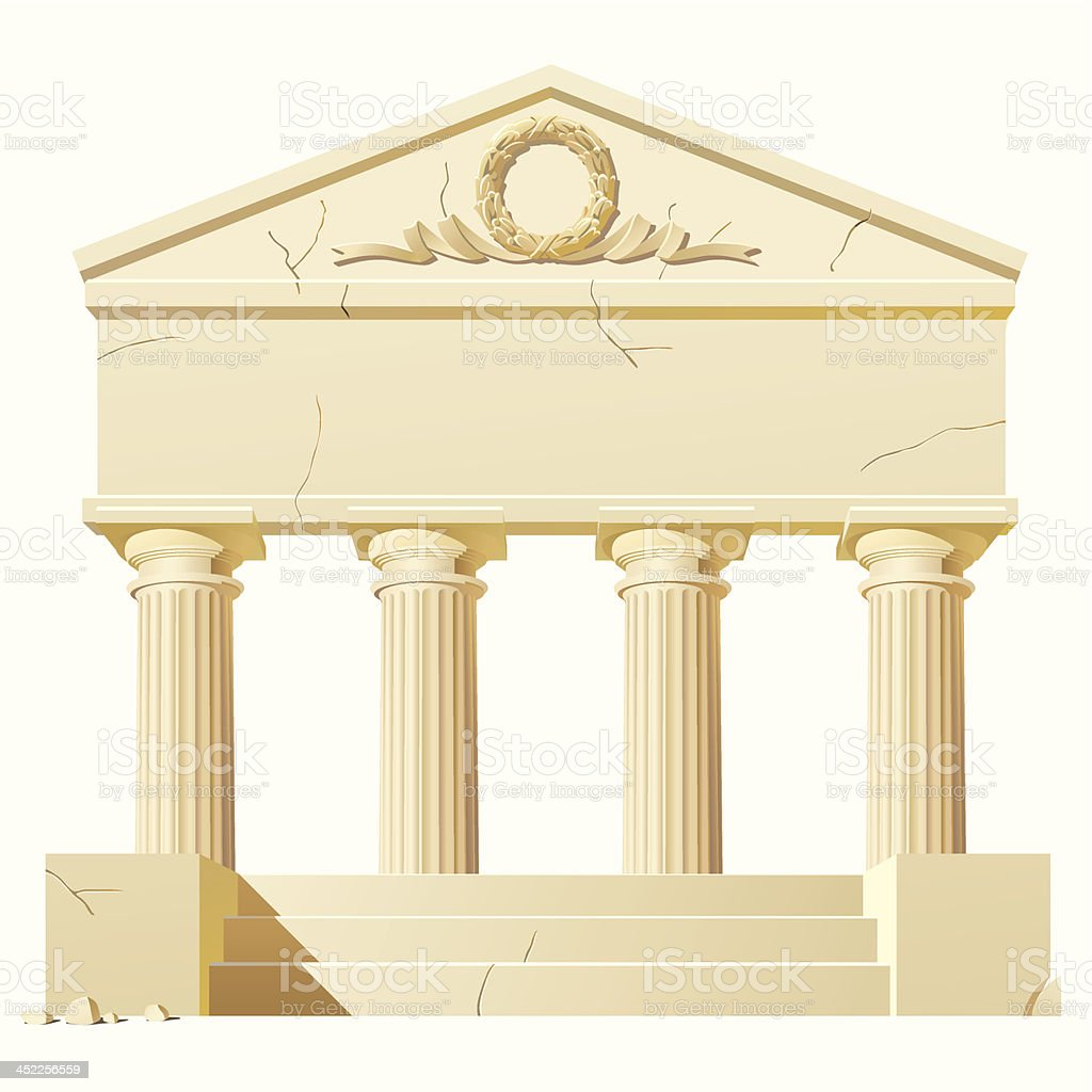 Antique building royalty-free stock vector art