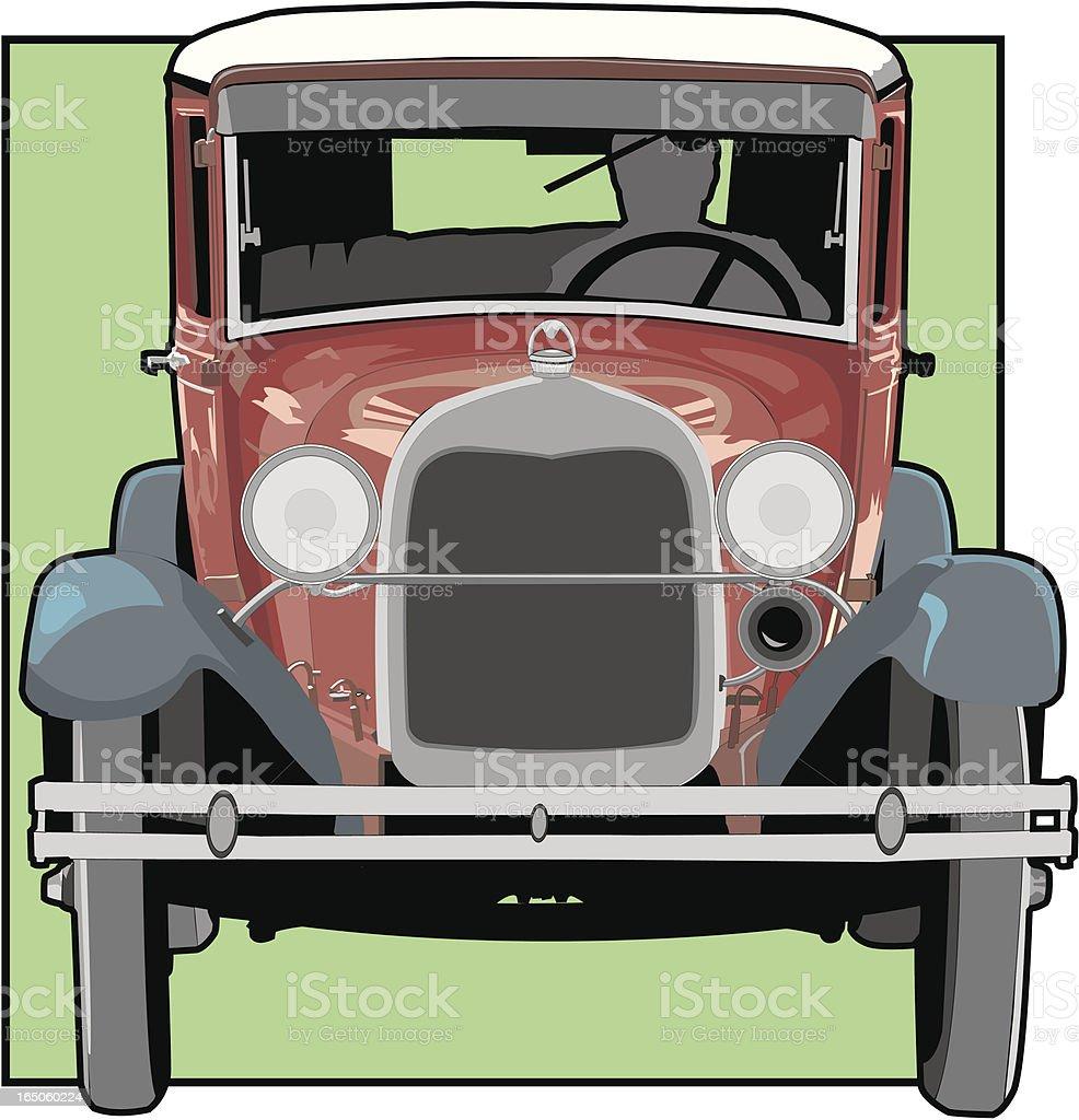 Antique Car vector art illustration