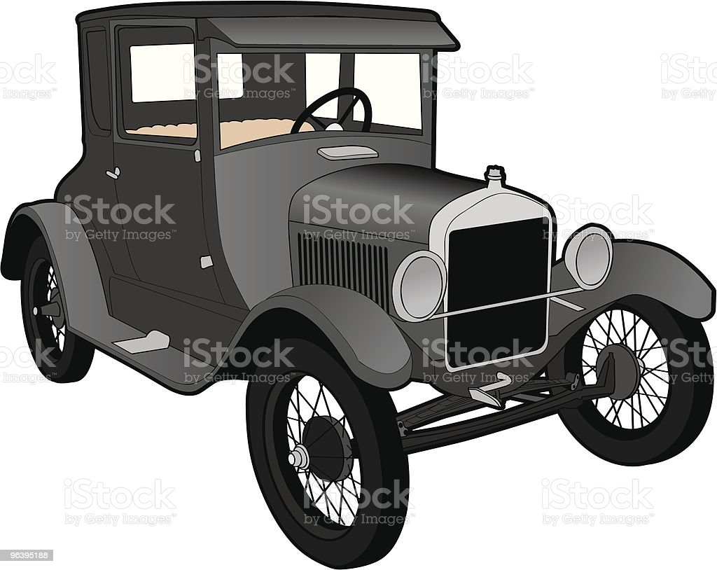 Antique Car vector art illustration