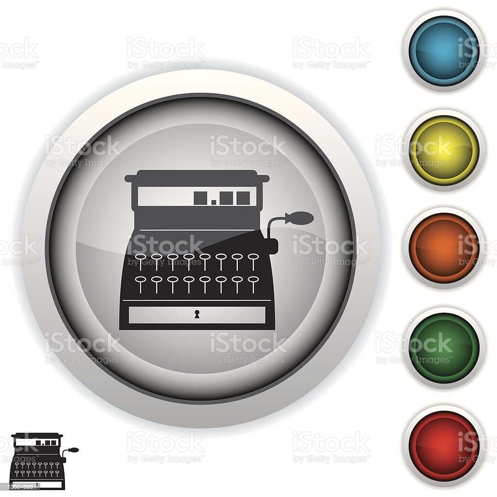 Antique cash register royalty-free stock vector art