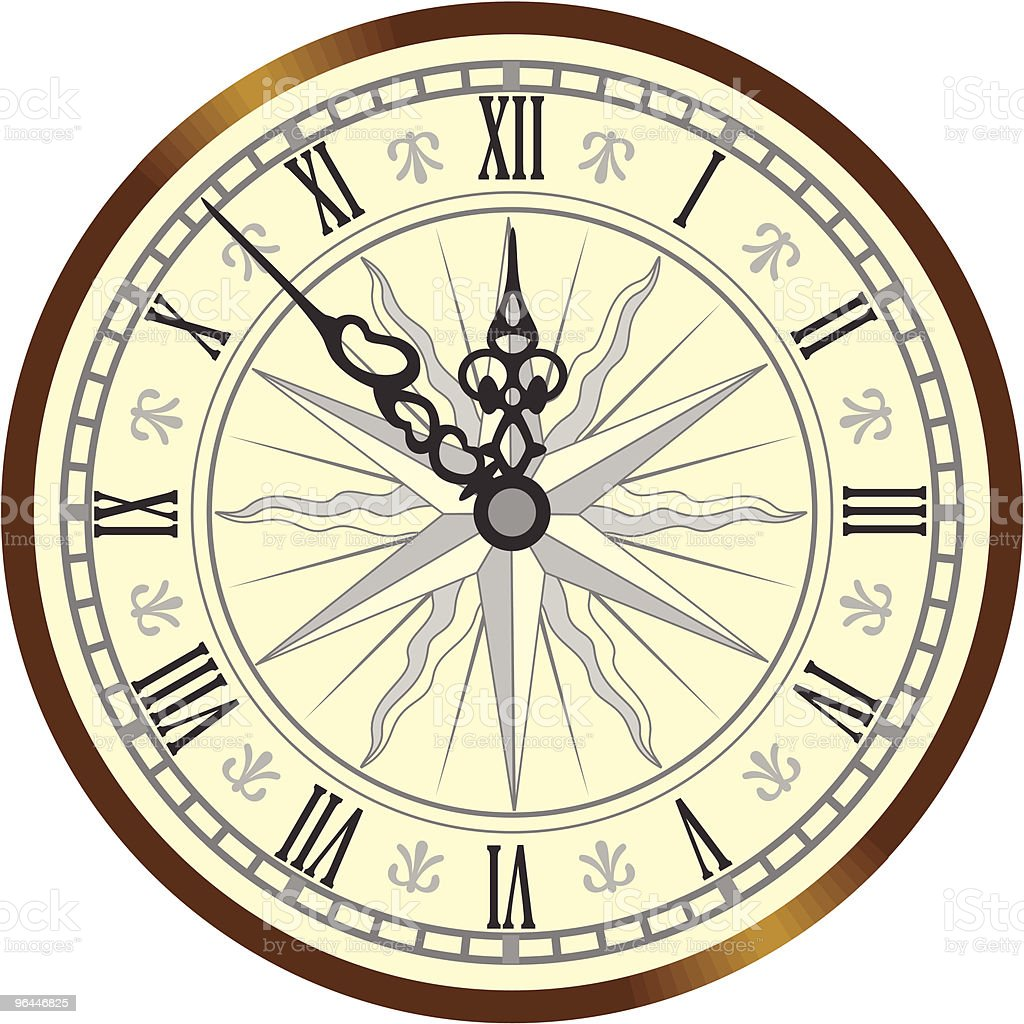 Antique Clock Stock Vector Art 96446825 Istock