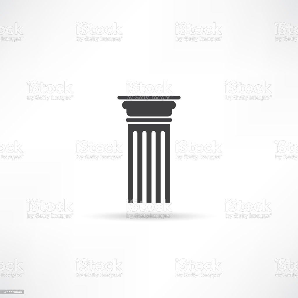 Antique Column Icon vector art illustration
