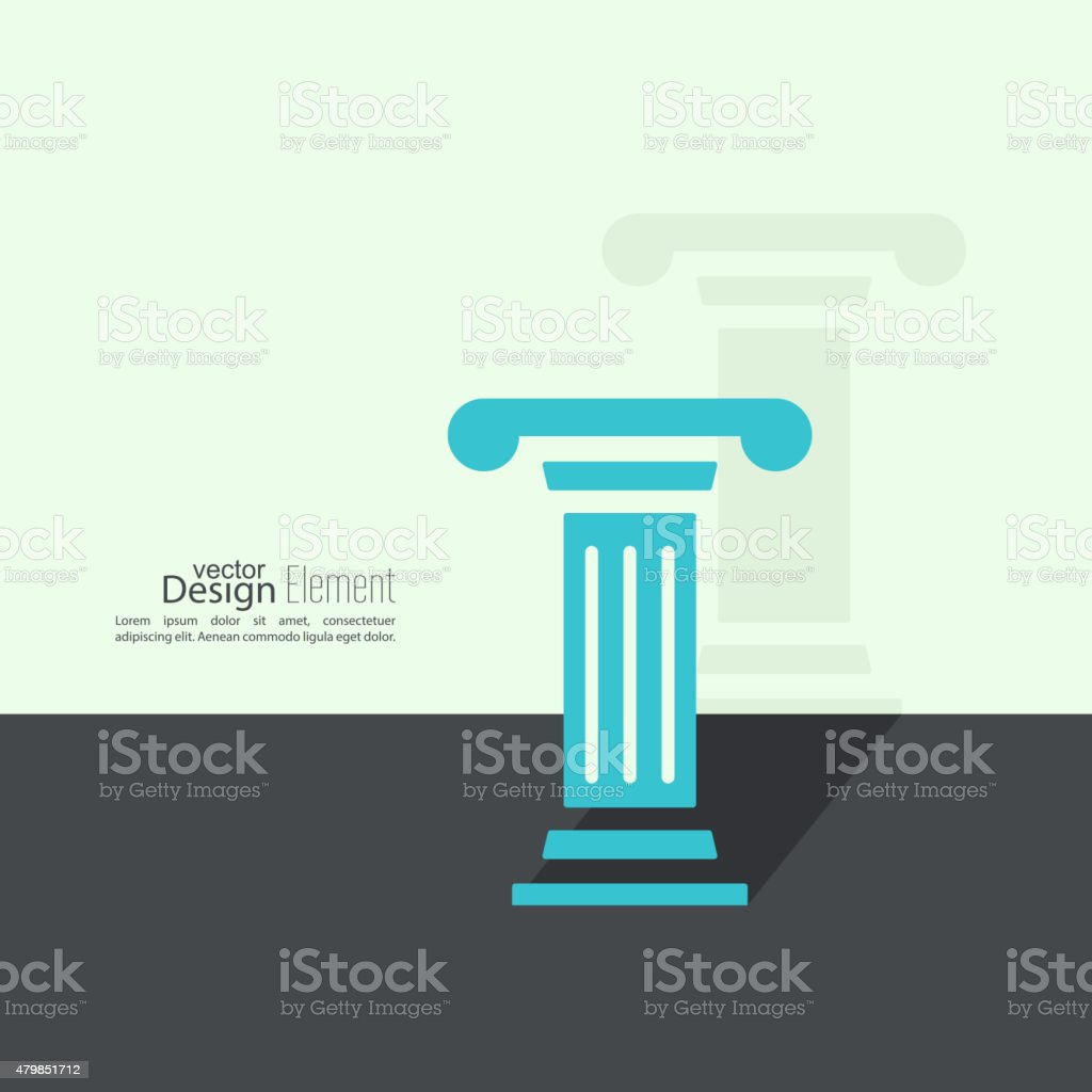 Antique column. Pedestal vector art illustration
