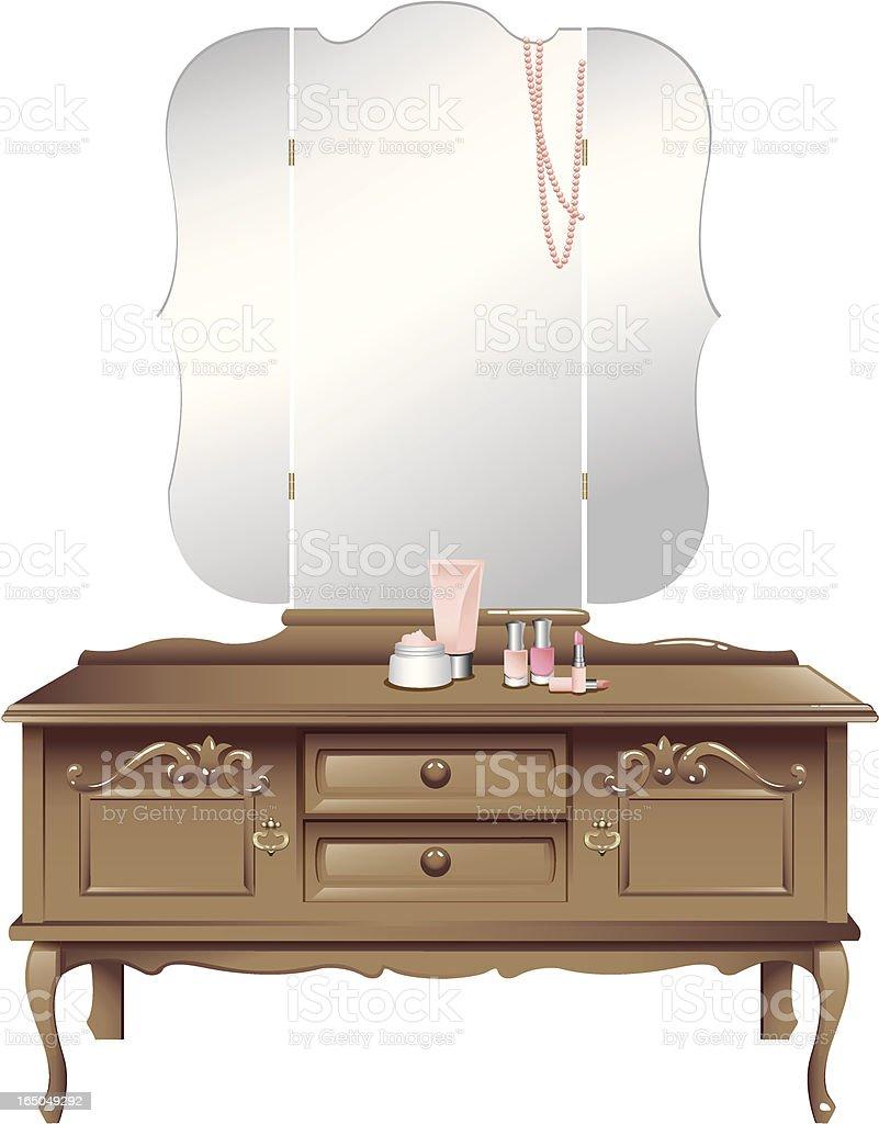 Antique Dressing Table vector art illustration