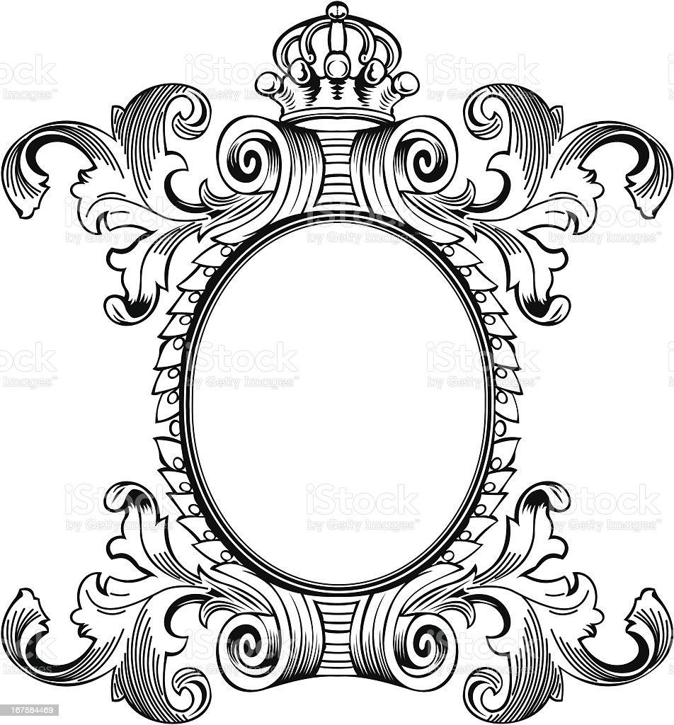 Antique Frame Engraving royalty-free stock vector art