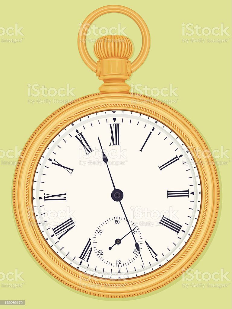Antique gold pocket watch royalty-free stock vector art