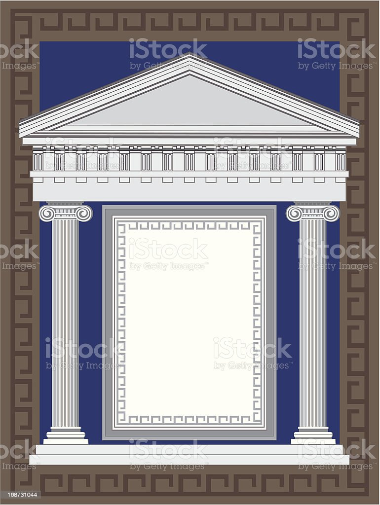 Antique Greek Temple royalty-free stock vector art