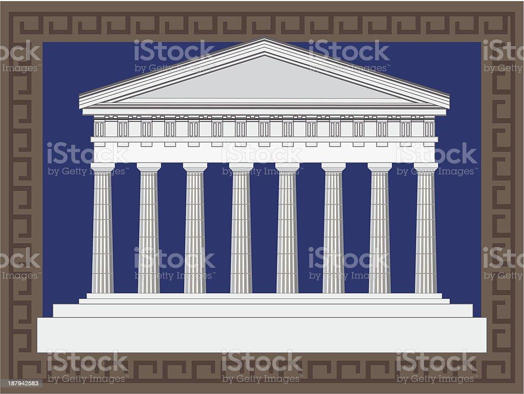 Antique Greek Temple royalty-free stock vector art