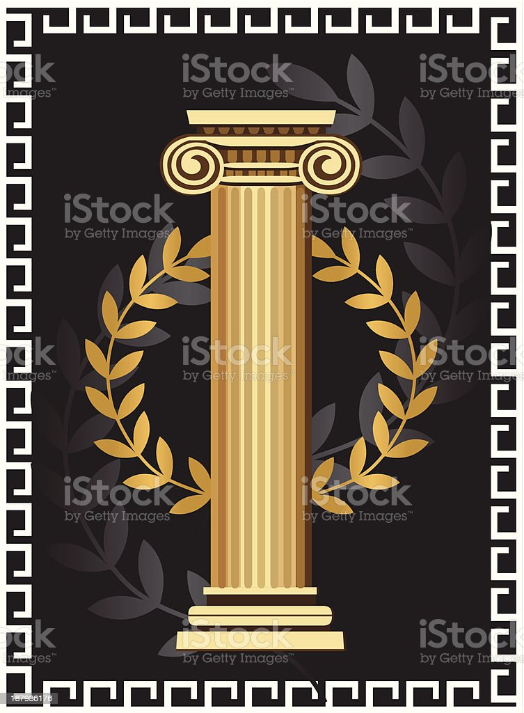 Antique Ionic Column royalty-free stock vector art