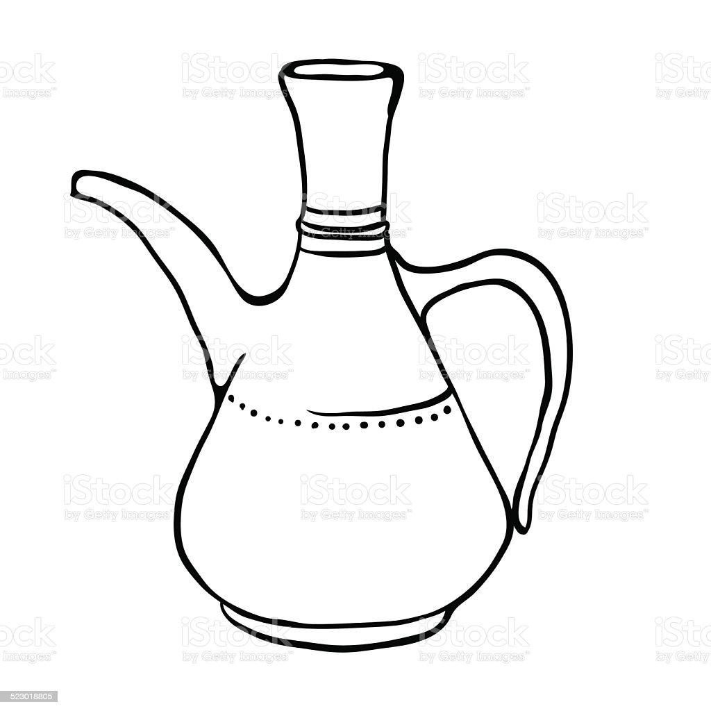 Antique jug, vector illustration vector art illustration