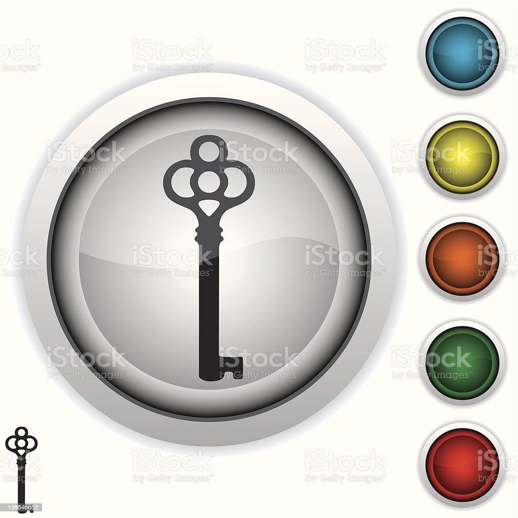 antique key icon royalty-free stock vector art